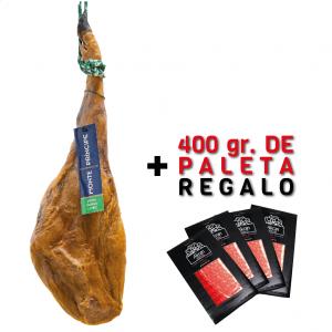 Jamón Gran Reserva cebo selección Monte Príncipe + 400 gr. paleta regalo